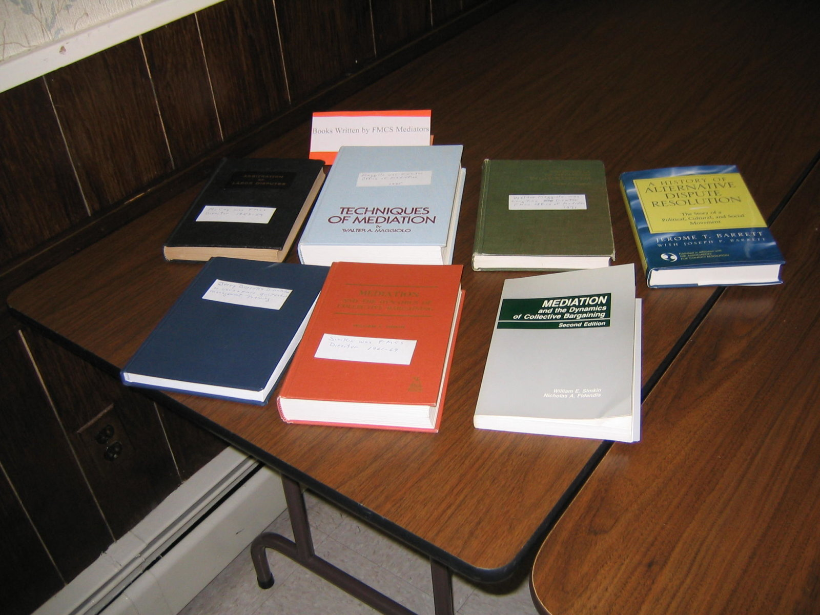 Collection of books on labor relations and conflict resolution