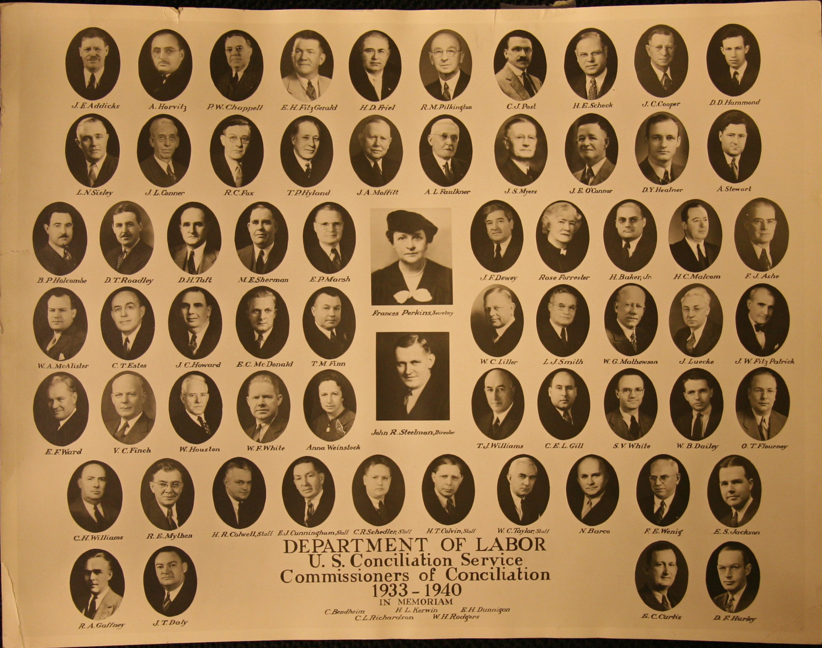 Photo of USCS conciliators 1933 -1940