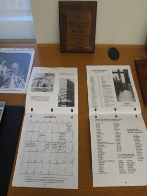 Jerome T. Barrett Plaque History Calendar Friends Collection
