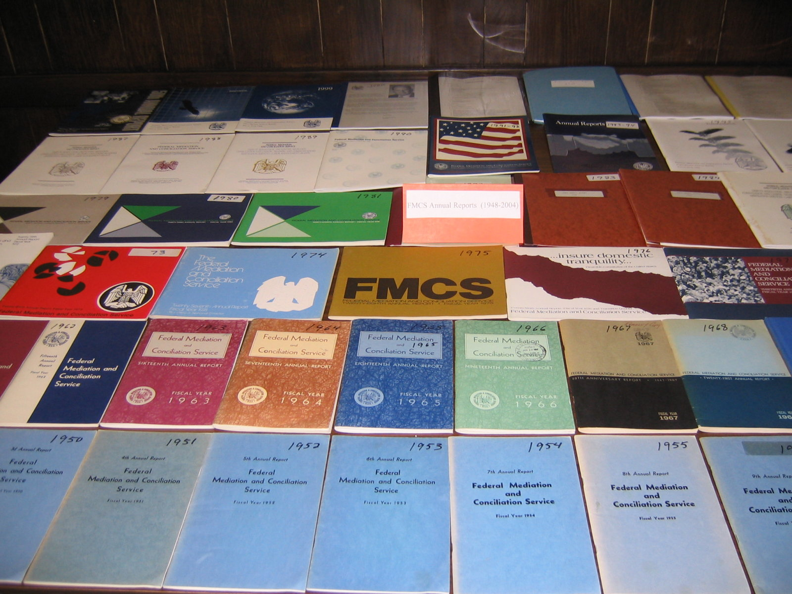 FMCS Annual Reports from 1948 to 2005