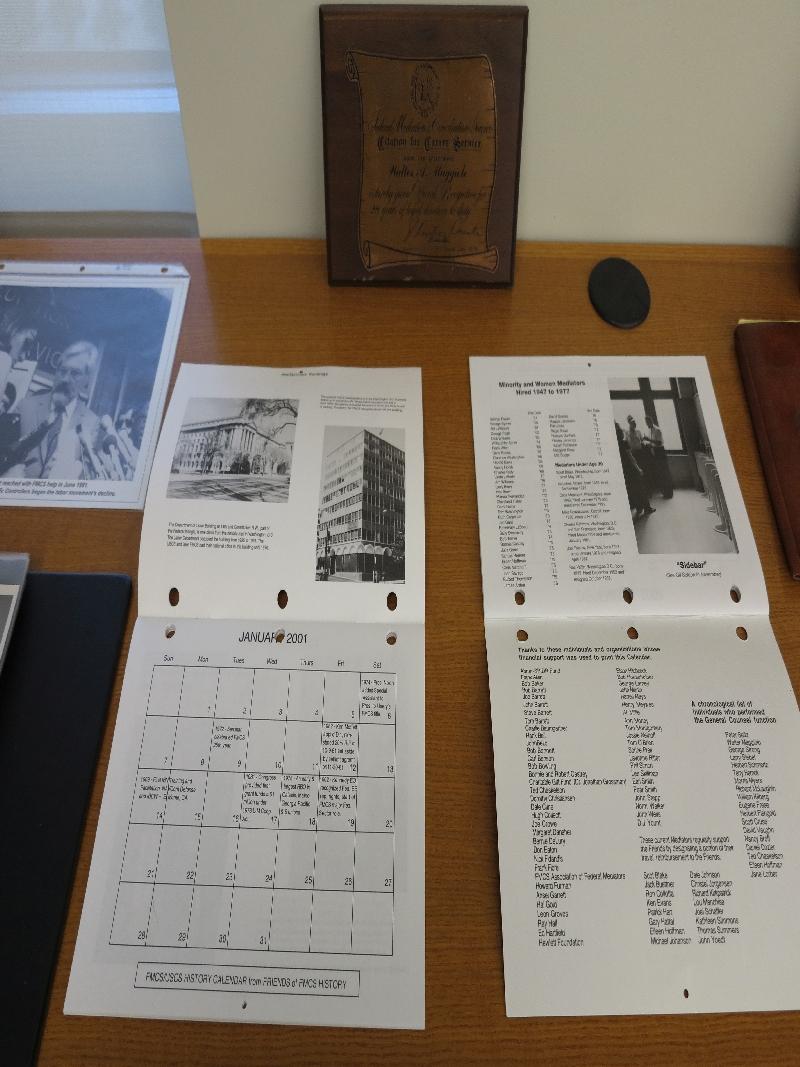 Jerome T. Barrett Plaque History Calendar Friends Collection